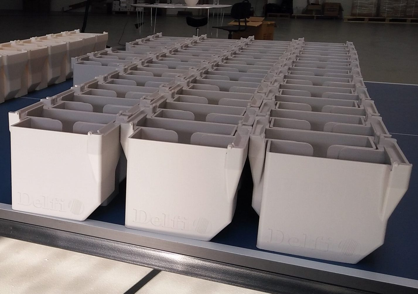 High Volume FDM ABS Manufacturing for Delfi Technologies A/S